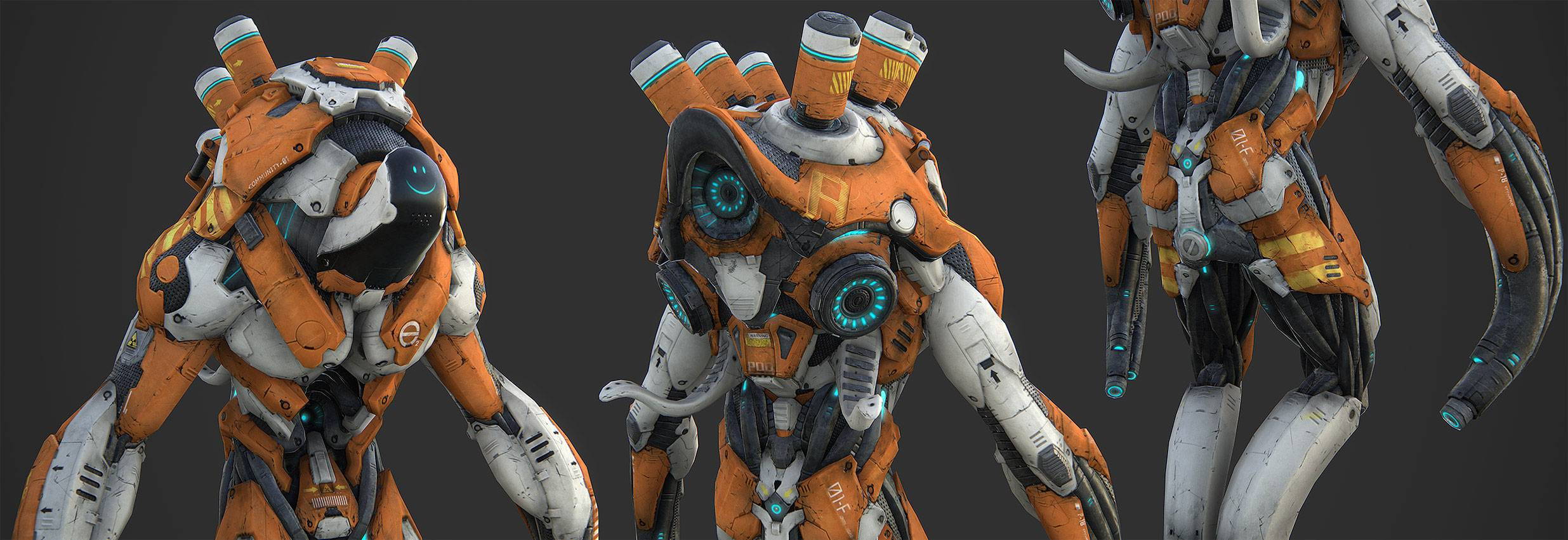 Highly detailed Robots