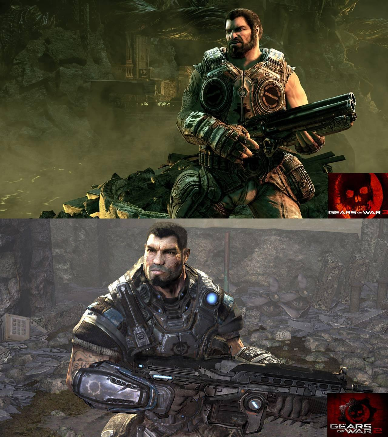 Gears Of War 3 Versus Gears Of War 2: HD Screenshot