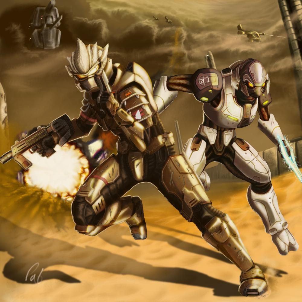 halo_3__desert_battle_by_wyvernsmasher