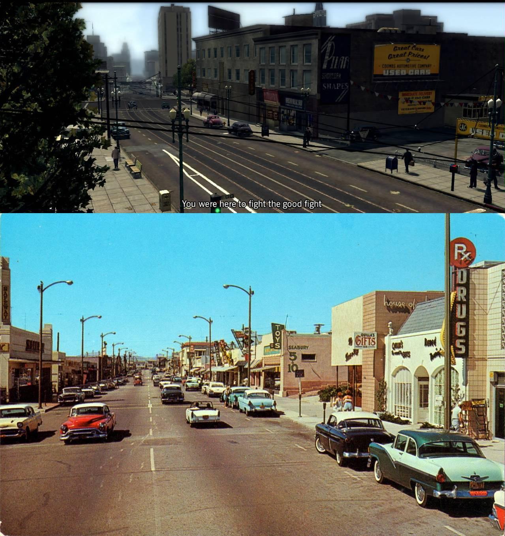 LA Noire Vs 1940's Los Angeles: Screenshot Comparison