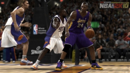 Kobe Bryant is the cover athlete for NBA 2K10 and yes, he is very good.