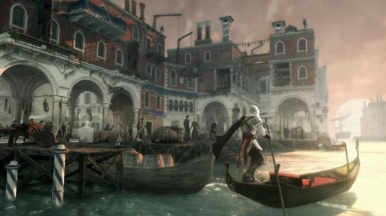 Now the assassin can row a boat and swim too!