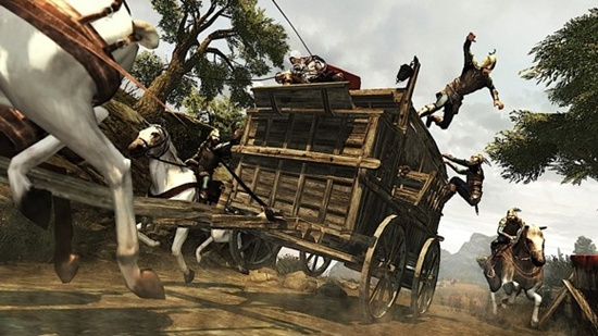The cart chase sequence was one of the highlights of the game.