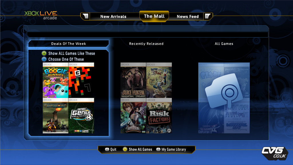 New Browser For The Xbox Live Arcade Marketplace � GamingBolt.com ...