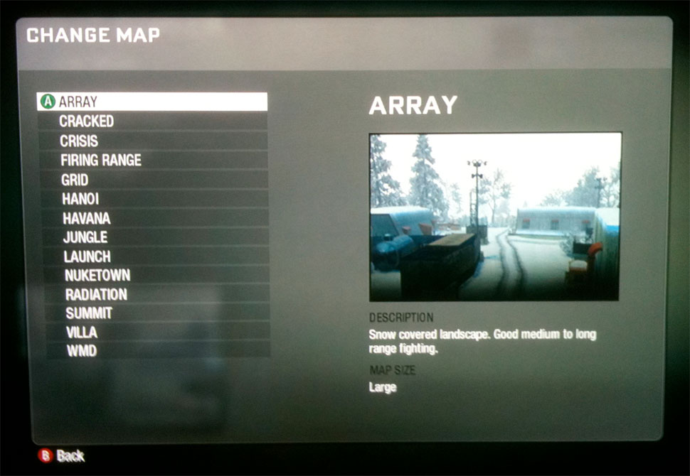 Call of duty black ops multiplayer maps - firing range map