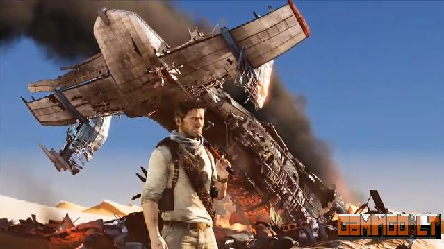 uncharted 3 crashed plane
