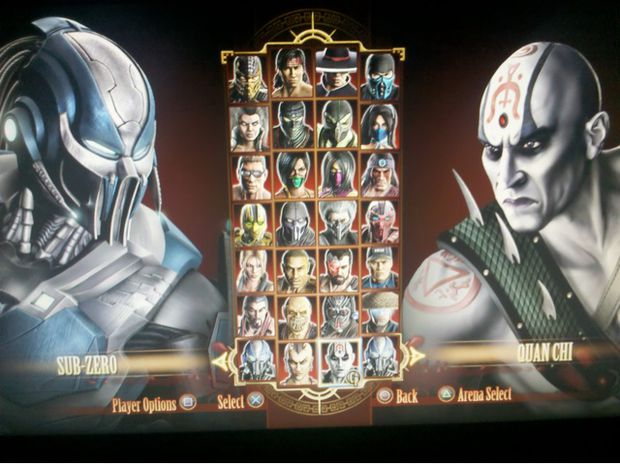 all mortal kombat 2011 characters. characters all leaked from