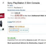 PS3 drops to 192 pounds on Amazon UK
