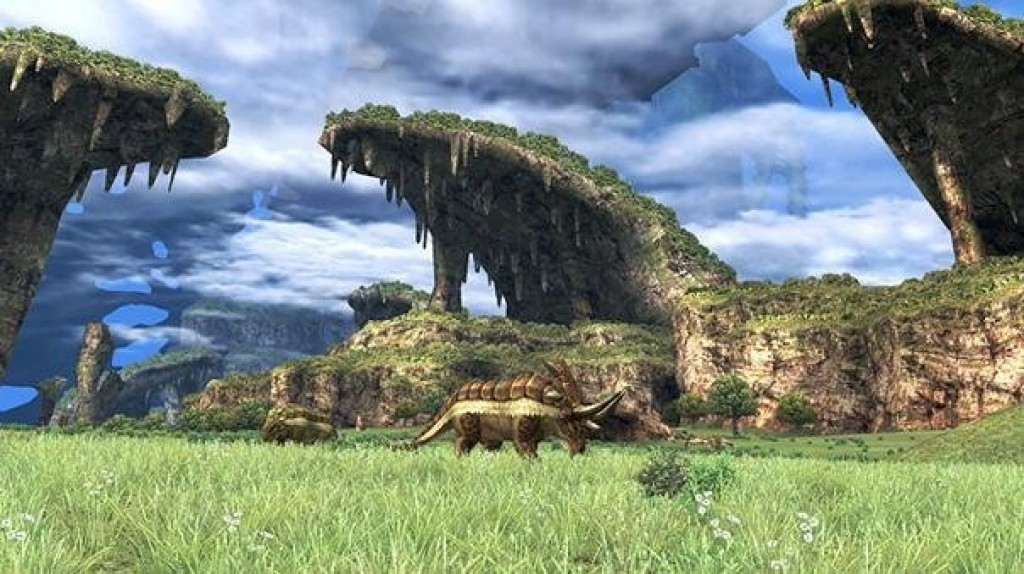 The world of Xenoblade Chronicles looks absolutely gorgeous.