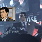 Batman: Arkham City reveals that Bruce Wayne is a false identity. The REAL man behind the cowl is….STERLING ARCHER