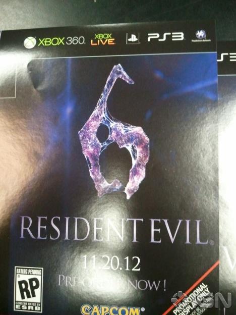Resident Evil 6 logo leaked by Gamestop