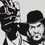 Fantastic Red Dead Redemption wall painting