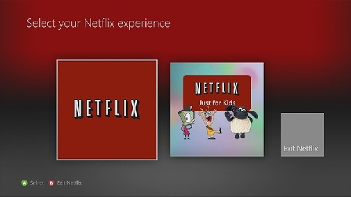 netflix just for kids xbox360