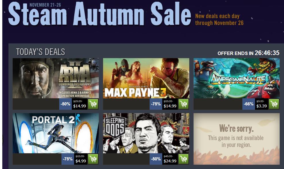 steam autumn sale day 2