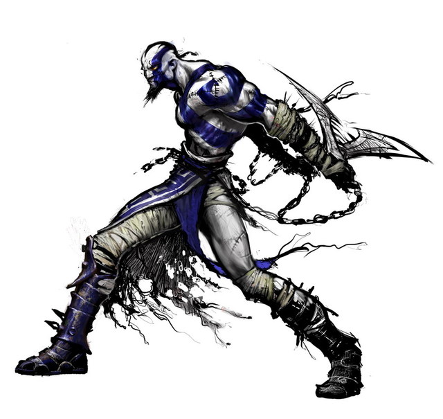 kratos blue design