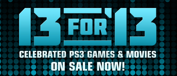 13 for 13 psn sale