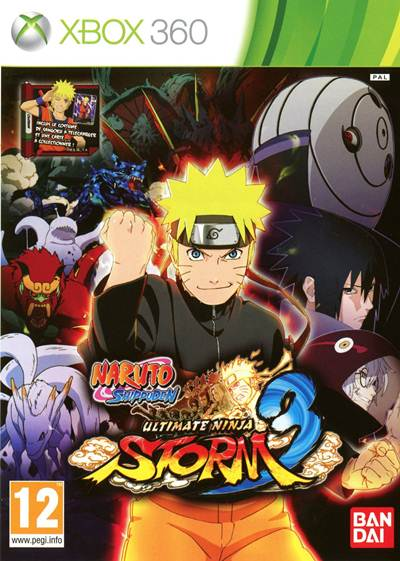 Naruto Shippuden Ultimate Ninja Storm 3 Box Art