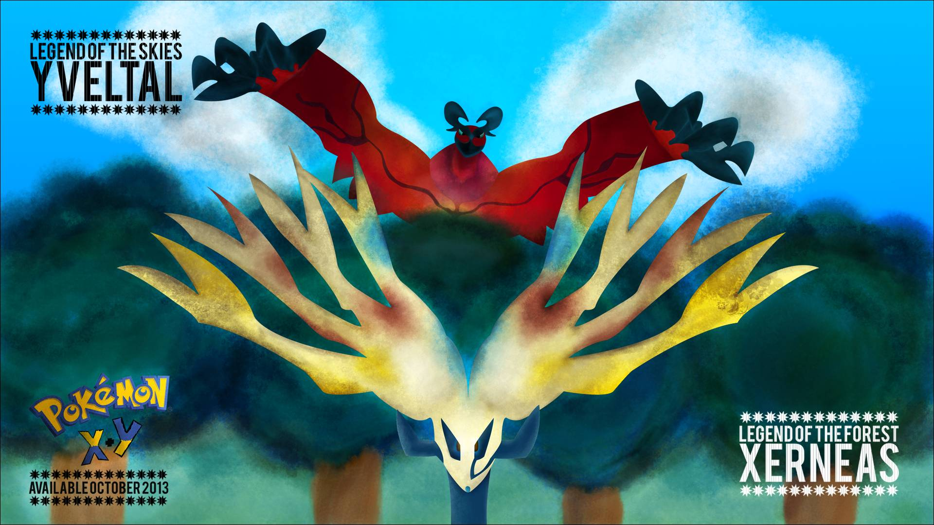 pokemon x and y wallpapers
