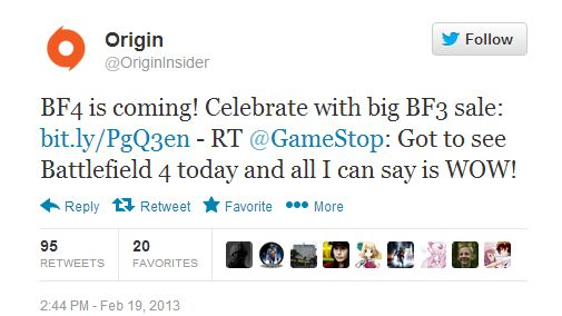 battlefield 4_origin tweet