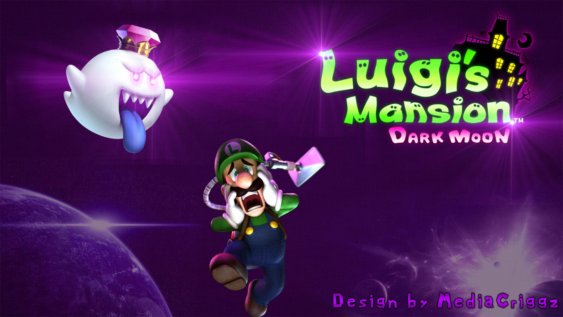Luigis Mansion Dark Moon Hd Wallpaper