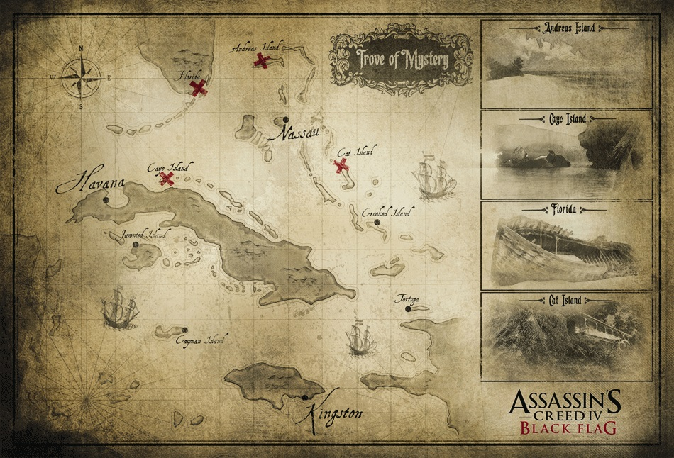 Assassin S Creed 4 Black Flag S Map Shows New Areas For Exploration