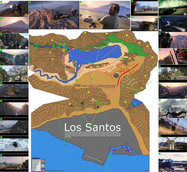 gta 5 terrain map