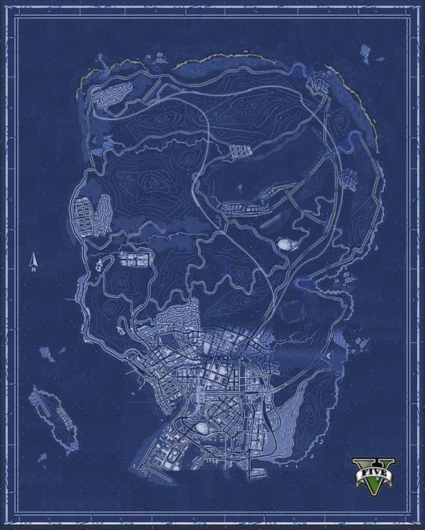 GTA V_blueprints map
