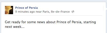 Prince of Persia Facebook post
