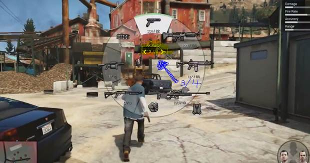 how to change weapons in gta 5 pc
