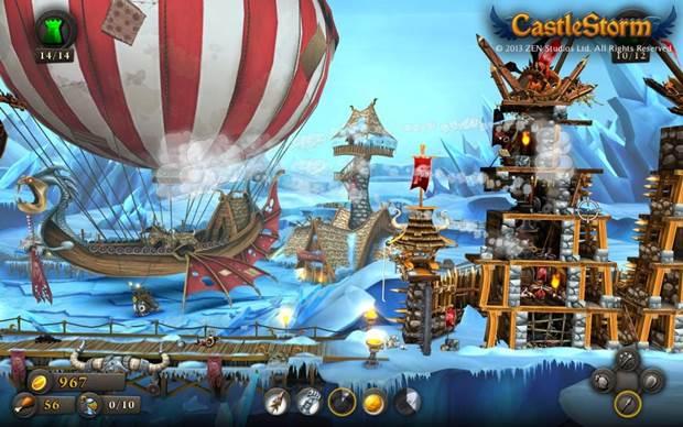 CastleStorm skyship harbor