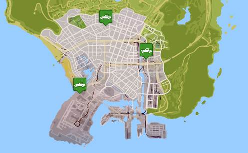 GTA 5 AUTOMOBILE SHOP LOCATIONS