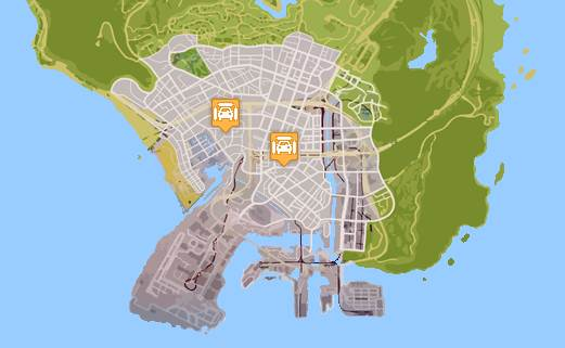 GTA 5 CAR WASH LOCATIONS