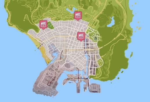 GTA 5 CINEMA MOVIE THEATRE LOCATIONS