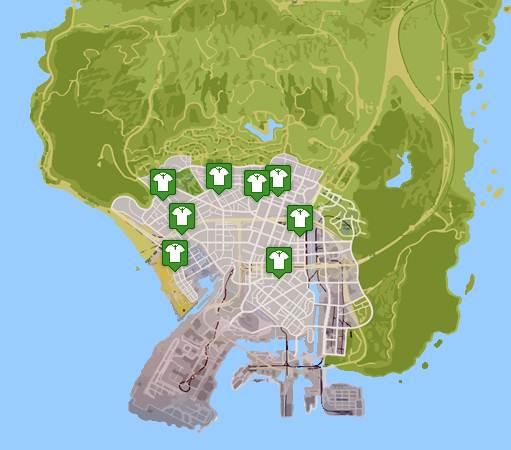 GTA 5 CLOTHES LOCATIONS