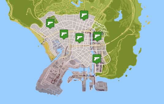 GTA 5 GUNS AND AMMUNITIONS LOCATIONS