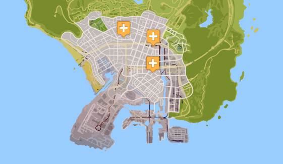 GTA 5 HOSPITAL LOCATIONS