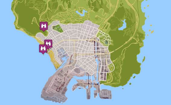 GTA 5 LOOKOUT POINTS LOCATIONS