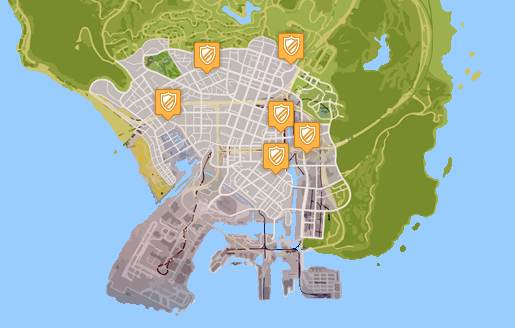 GTA 5 POLICE STATION LOCATIONS