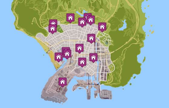 GTA 5 PROPERTY FOR SALE LOCATIONS