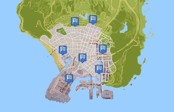 GTA 5 RACES LOCATIONS