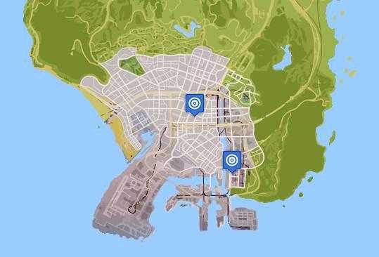 GTA 5 SHOOTING RANGE LOCATIONS