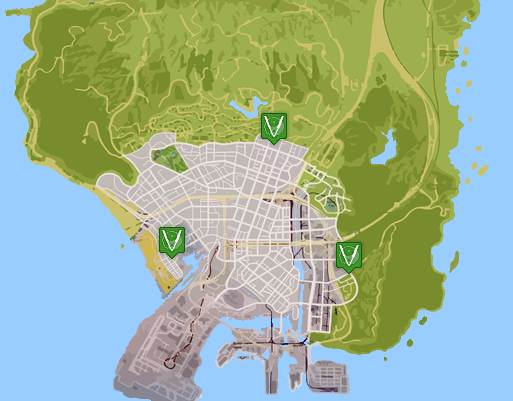 GTA 5 TATTOO LOCATIONS