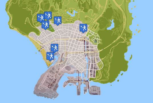 GTA 5 TENNIS  LOCATIONS