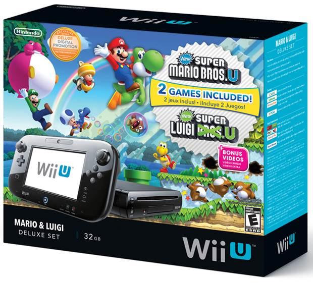 Mario and Luigi Wii U Nintendo Bundle