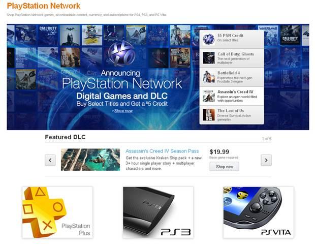 Amazon PSN Store