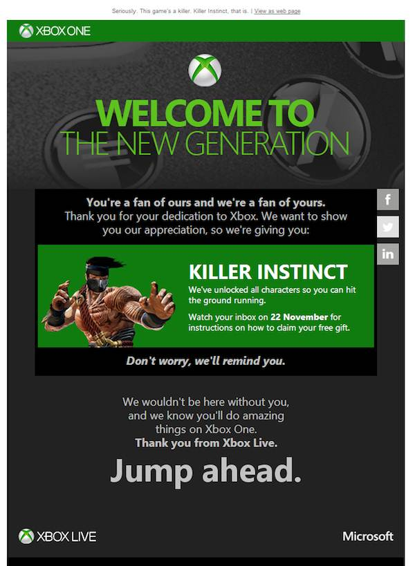 Killer Instinct free xbox one