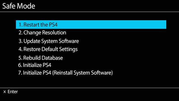 ps4 safe mode screen