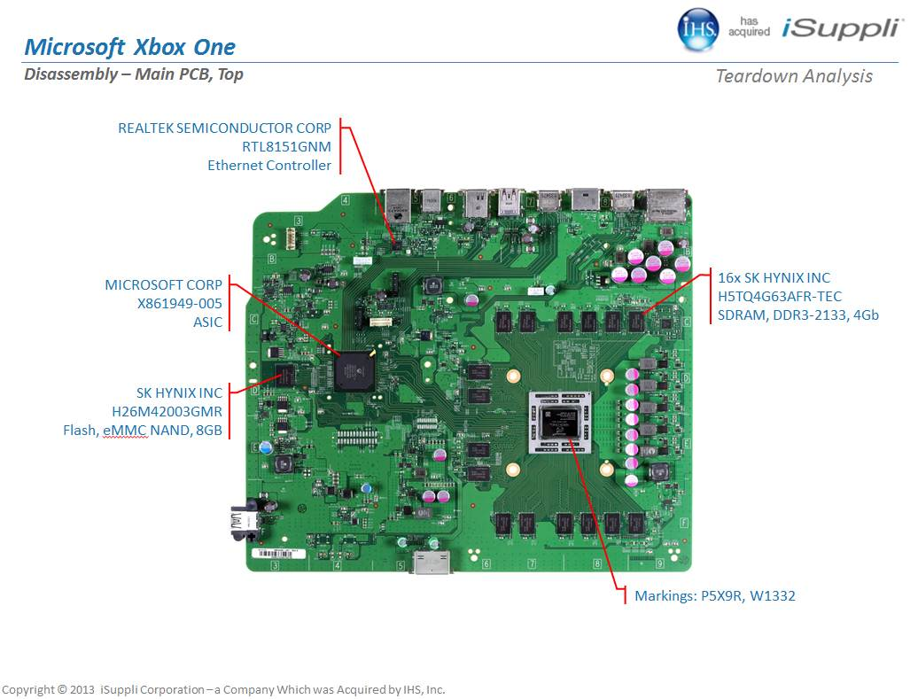 inside the xbox one motherboard components explained cg2 board diagram xbox one motherboard