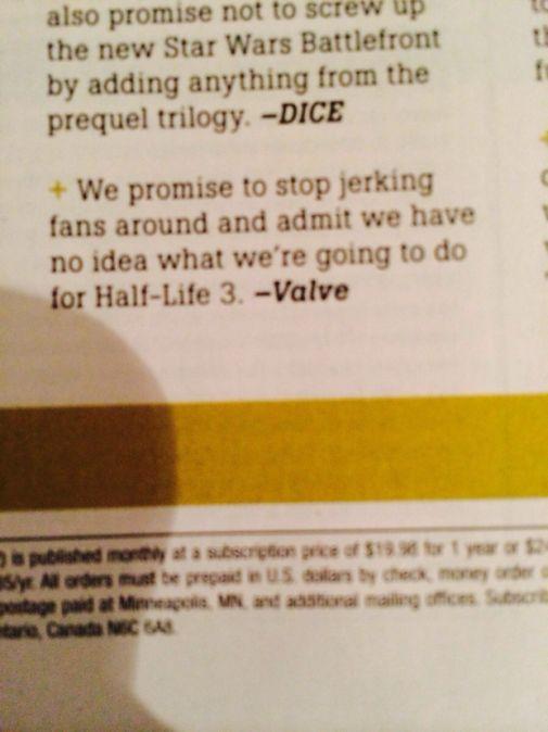 Half Life 3 game informer