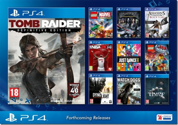 New Sony Playstation 4 Games : Tomb raider definitive edition priced for ps in india